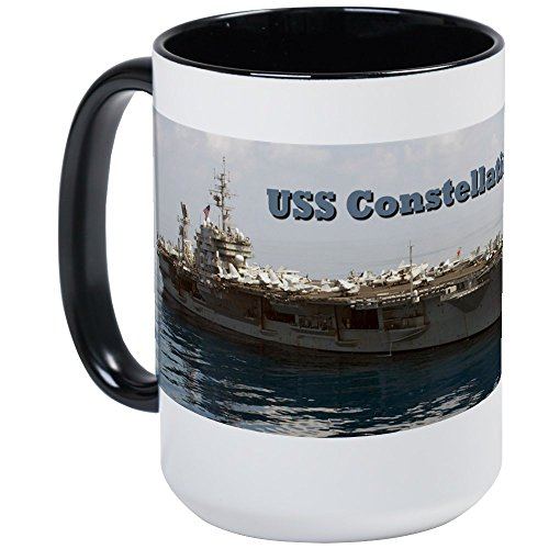 - CafePress USS Constellation (CV 64) Large Mug Coffee Mug, Large 15 oz. White Coffee Cup