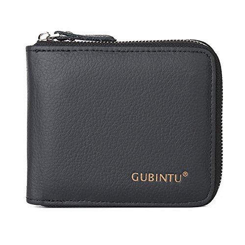 Black Market Vintage (J.Market RFID Blocking Wallet Vintage Men's Genuine Leather Slim Bifold Retro Wallet (Black))