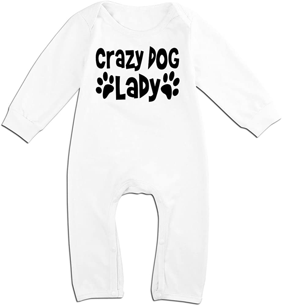 Alipapa Boy's & Girl's Crazy Dog Lady T Shirt White