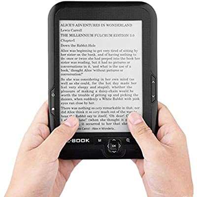 Ebook Reader Smart Reading for Kids E-Ink Display 16GB Touch Screen 2500mAh Pocket Books  Black