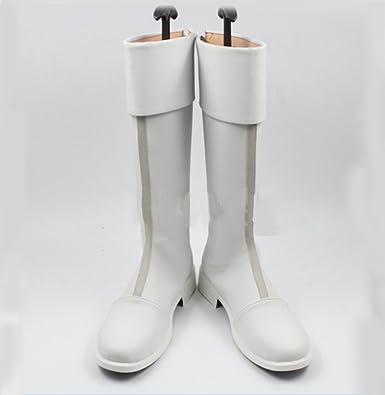 Amazon.com | Todoroki Cosplay Boots white PU Shoes Anime Costume ...