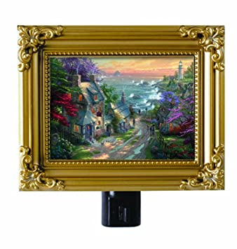 Thomas Kinkade Village Lighthouse Night Light