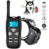 Training Dog Collar - LINNSE Shock Collar Dogs Dog Shock Collar Remote Range 1000ft, 100% Waterproof Security Dog Training Collar Dogs Vibration, Shock, Beep Training Mode