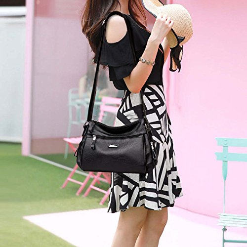 amp; NICOLE Women's Tote Hobos a Shoulder DORIS Messenger Black Crossbody Bags Handbag 6dxBqrdw