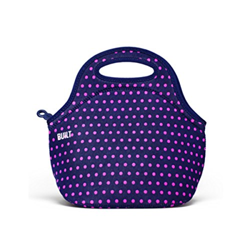 BUILT NY Gourmet Getaway Neoprene Lunch Tote, Mini Dot Navy