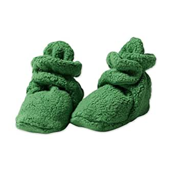 Zutano Unisex-Baby Newborn Cozie Fleece Bootie, Apple, 3 Months