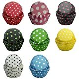 SophieBella Cupcake-Liners Muffin-Liners Polka-Dot Paper for Holiday Party,400 Ct Mixed 8-Styles