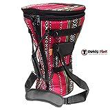 Gawharet El Fan - Professional Red Doumbek/Darbuka Classic & Sombaty Size -Bag Carry Case - Premium Fabric Gig-bag