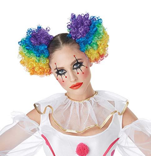 (California Costumes Women's Clown Puffs, Rainbow One)
