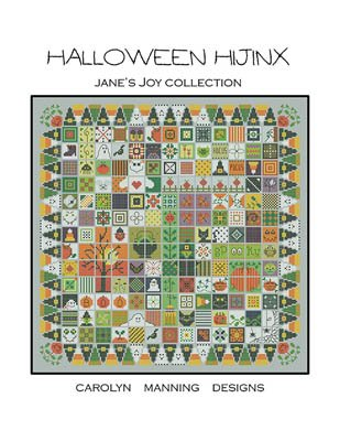 Halloween Hijinx Cross Stitch Chart and Free Halloween Embellishment for $<!--$19.50-->