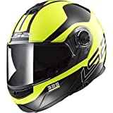 LS2 Helmets Unisex-Adult flip-up-Helmet-Style Motorcycle (Zone Hi-Viz, X-Large)
