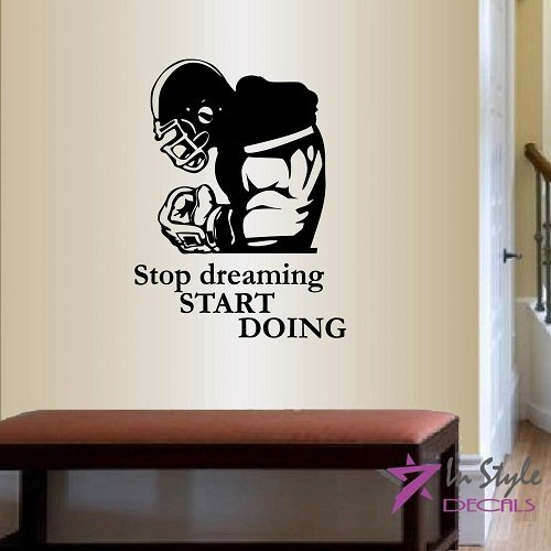 wall-vinyl-decal-home-decor-art-sticker-stop-dreaming-start-doing-lettering-quote-phrase-football-pl