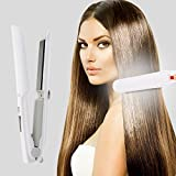 2 in 1 Wireless Hair Straightener and Curling Iron Cordless Mini Flat Iron with USB Port Charging