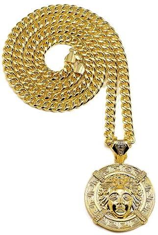 GWOOD Medusa Large Gold Color Pendant Necklace (Chief Keef Pendant)