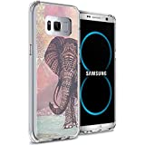 Galaxy S8 Plus Case, Samsung Galaxy S8 Plus Viwell TPU Soft Case Rubber Silicone The Aztec color elephants