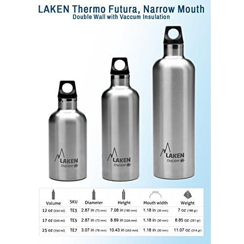 Bouteille isotherme Futura de Laken en acier inoxydable avec isolation sous ...