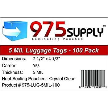 Amazon Com 975 Supply Luggage Tag Laminating Pouches