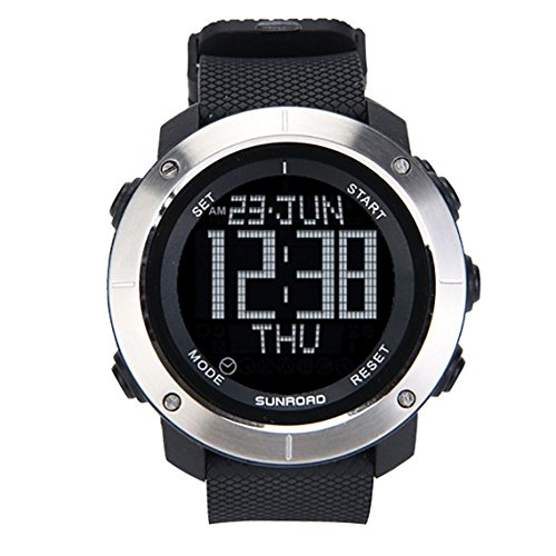 Digital Wristband Watch, 5ATM Waterproof Sports Watch, Schedule Reminder, World Time Zones, Stopwatch and Countdown Timer Functions, by SunRoad (Stopwatch Countdown Timer World Time)