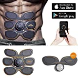 Abdominal Muscle Toner,Gympad Abs Body Toning Device,Portable Fitness Training Gear,Wireless Muscle Stimulation with App control For Abdomen/Arm/Leg Training Men&Women Home Office Workout Equipment