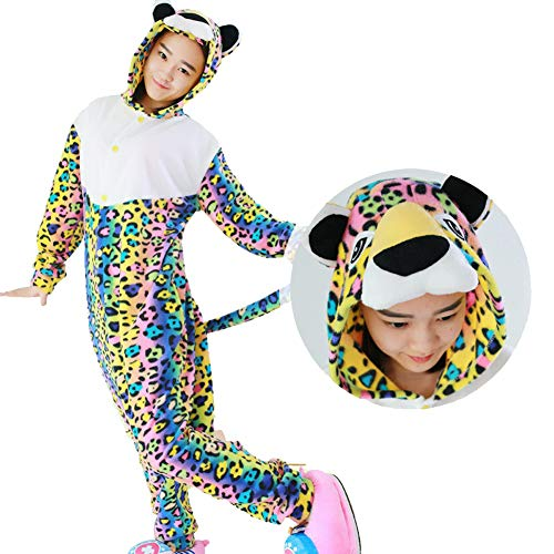 Spotted Leopard Adult Onesie Animal Pajamas Comfortable Costume with Pockets