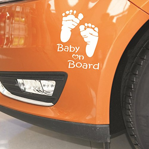(MAMaiuh Car Stickers -Baby On Board-Creative Decoration Decal Car Window Tail Door Sticker)