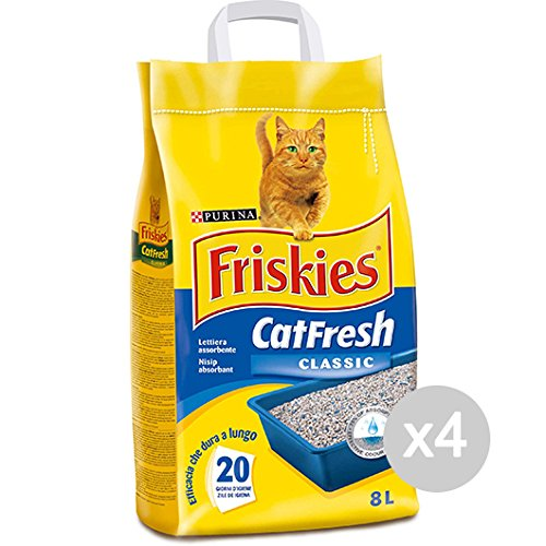Set 4 FRISKIES Cat Classic Lt Portee Fresh 8 Article Pour Chats Domestiques