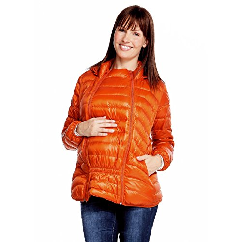 Ultra Light Warm Maternity & Babywearing Down Jacket Large Orange by Genuine