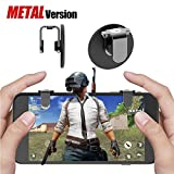 Lanyi PUBG Mobile Game Controller Metal, Sensitive Shoot and Aim Buttons L1R1 for Knives Out/PUBG/Rules of Survival, 1 Pair Survival Game Controller for 4.5-6.5inch Android IOS Phones