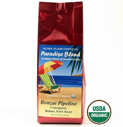 Dark Roast, Organic Arabica Coffee, Rain Forest Alliance Fair Trade, 8 Oz Whole Bean
