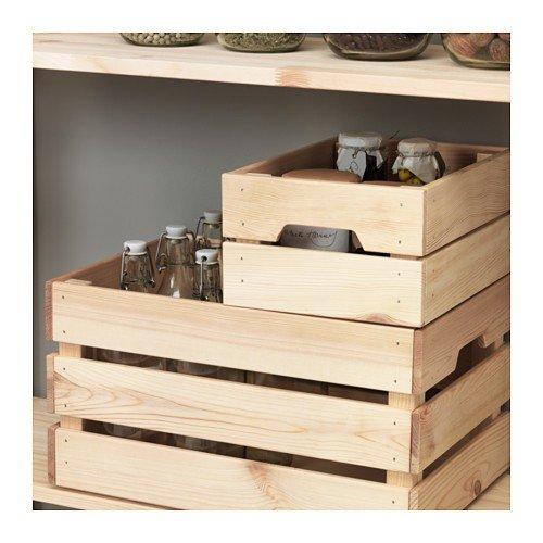 Ikea Knagglig - Caja (Madera de Pino Maciza, 23 x 31 x 15 cm): Amazon.es: Hogar