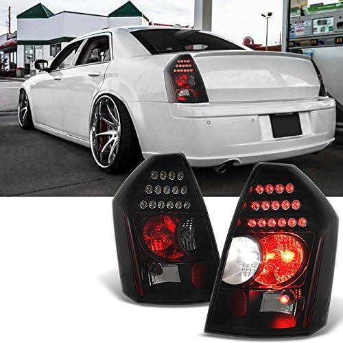 Amazon Com For 2005 2006 2007 Chrysler 300 Black Smoke Led Tail Lights Brake Lamps Replacement Pair Automotive