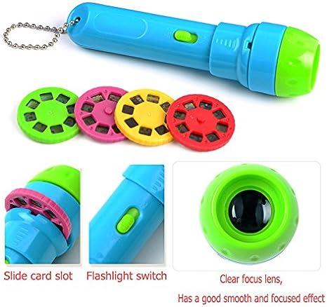 DMZK 2 en 1 linternas proyector Infantil con 4 Cuentos para Niños ...