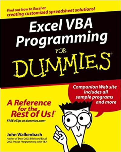 Excel VBA Programming For Dummies: John Walkenbach: 0785555890008 ...
