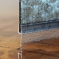 STEIGNER Junta de Ducha, Junta de Sellado, 30 cm, Espesor del Vidrio 6/7/8 mm, Junta Recta PVC, UK05: Amazon.es: Bricolaje y herramientas
