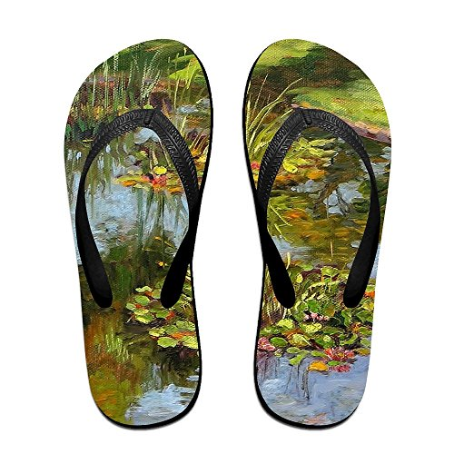 Slippers for Flops Women Tree Oil Flip PTJHKET Black Kids Men Painting 5gXwYfxq