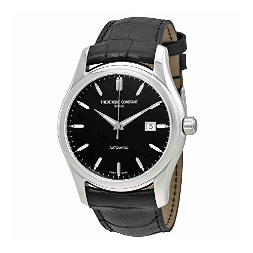 Frederique Constant Automatic Black Dial Black Leather Watch 303B6B6