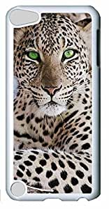 Fashion Customized Case for iPod Touch 5 Cool White Plastic Case Back Cover for iPod Touch 5th with Leopard