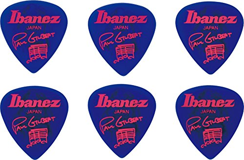 Ibanez B1000PGJB Paul Gilbert Signature Picks 6 Pack, Jewel Blue