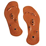 Genmine Magnetic Foot Insoles Magnet Acupressure Shoe Inserts Health Foot Magnetic Therapy Massage Insoles Shoe / Boots Pads for Men Women Promote Blood Circulation Fatigue Relieve Shoe Pads (Large)
