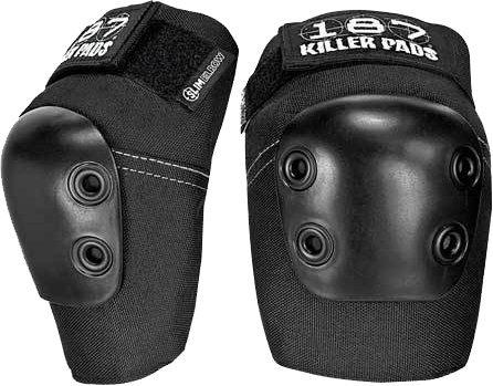 187 Killer Pads Slim Black Elbow Pads - Large