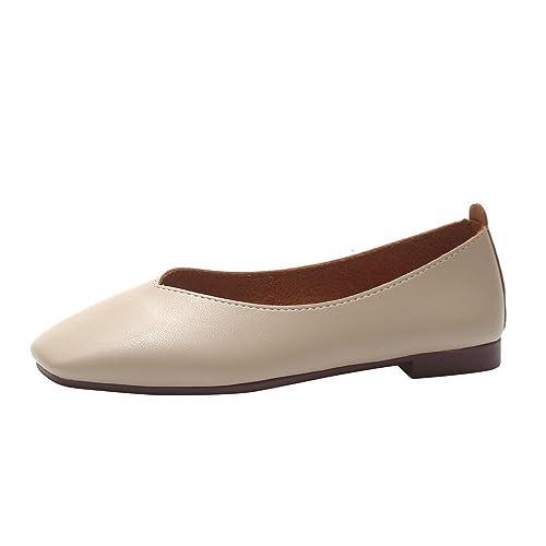 Mocasines Zapatos Plano Punta Cuadrada de Mujer, QinMM Merceditas de Fiesta de Oficina de Verano Boda Vestir: Amazon.es: Zapatos y complementos