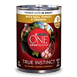 Purina ONE SmartBlend True Instinct Tender Cuts With Real Turkey & Venison in Gravy Adult Wet Dog Food – 13 oz. Can Review