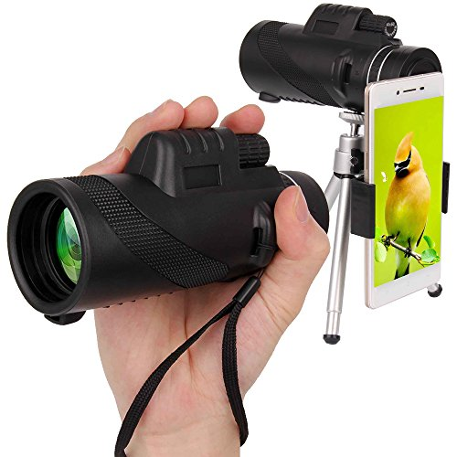 Monocular Dual Focus Optics Zoom 40X60 Single-tube Telescope Waterproof Wide Angle Lens With Tripod For Phone Bird Watching Camping Hiking Hunting Live Concert - Spectacles Power Without