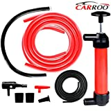 """Manual Siphon Pump Kit --- Heavy-Duty, Non-toxic, Environmentally Safe Hand Pumping Pipe - Fast Acting 15"""" Siphon Tube - Variety of Uses from Automotive, Rain Barrels to Water Gardens"""