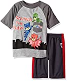 PJMASKS Big Boys 2 Piece Short and Short Set, Grey/Multi, 7