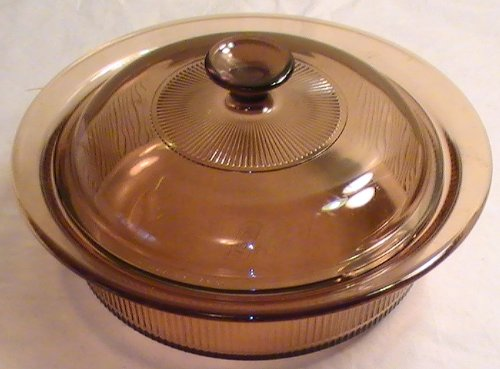 Corning Visions Amber 1.5 Quart Round - Round Visions Casserole