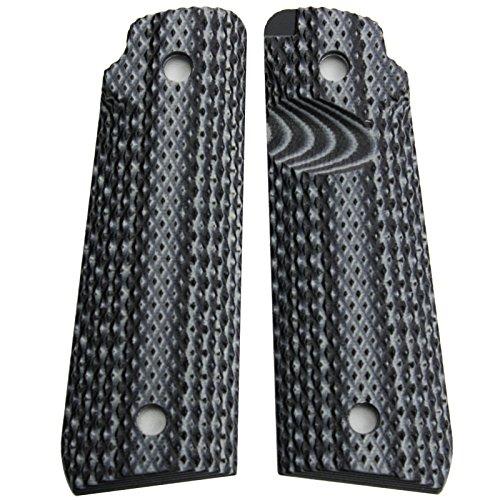 StonerCNC Ruger Mark IV 22/45 Lite Grips G10 Super Aggressive Design Fits Ruger 22 45 Lite Generation 4 Rimfire Pistol NOT for GEN 3 (Grey Black) (22 Rimfire Pistol)