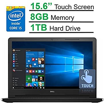 Dell Inspiron 15 3000 15.6 Inch HD Touchscreen Laptop PC (Intel Core i5-5200U Dual-Core 8GB DDR3 1TB HDD DVD RW Windows 10, Black Edition)