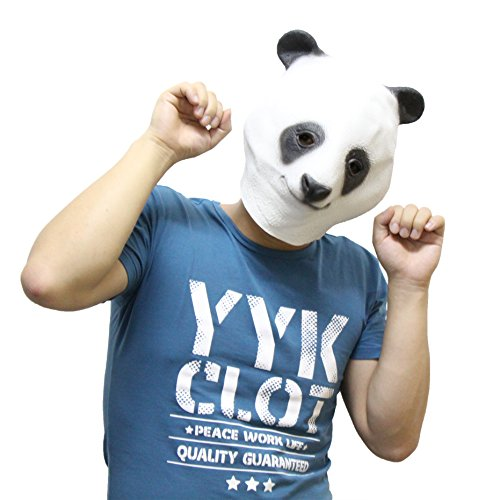 EMDMAK Latex Cute Kongfu Panda Mask for Halloween Cosplay Mask (Free Size) (Cute Halloween Masks)