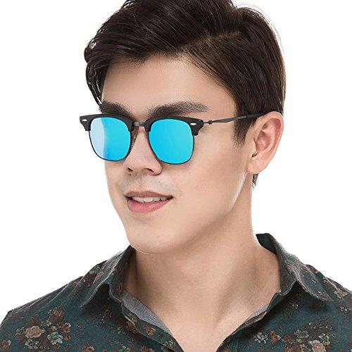 De Mano Sol Haciendo Gafas Gafas En Polarizadas TIANLIANG04 BLUE Unisex Back C10 Azul C10 Metal g5wxEn
